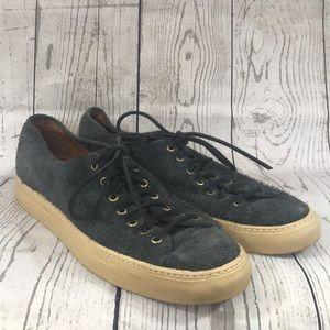 BUTTERO Tanino Rough Suede Slate Gray Sneakers 44